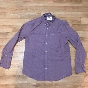 Hollister long sleeve button up polo